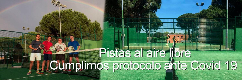Pistas padel aire libre protocolo Covid 19